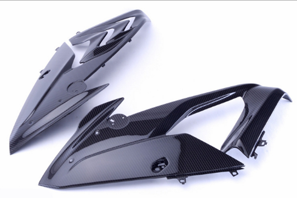 Custom carbon fibre motorcycle side fairing panel, high quality motorcycle parts