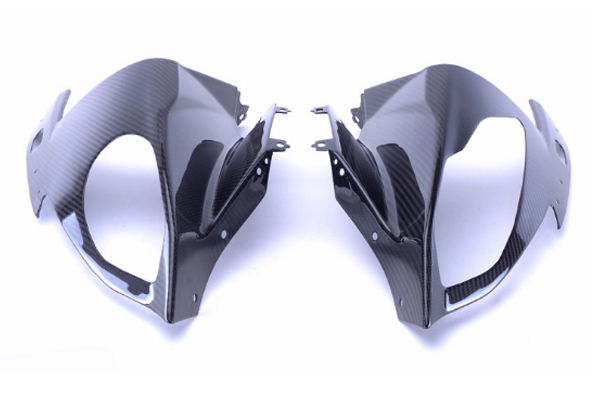 Autoclave carbon fiber motorcycle front fairing panel, custom motorcycle parts